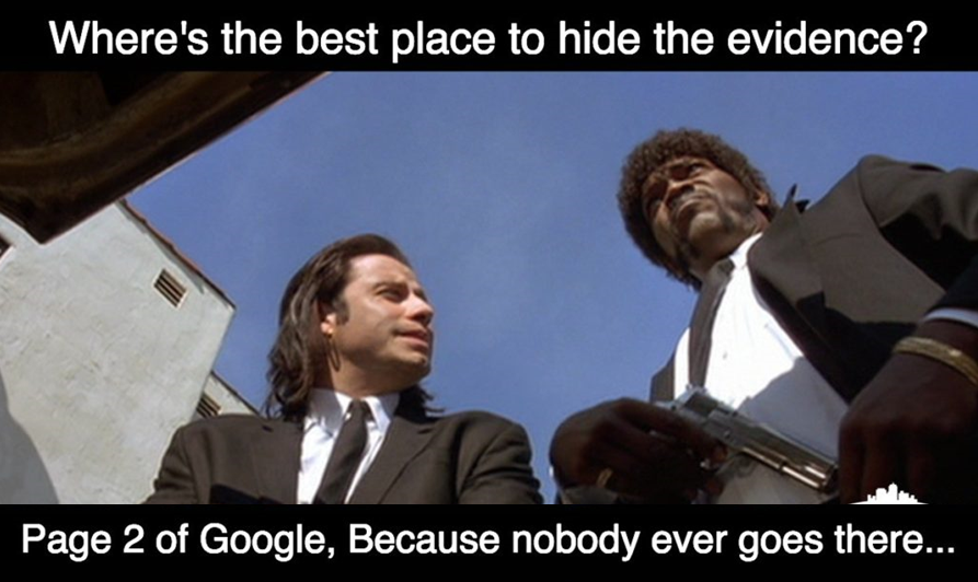 Google Page 2 - Pulp Fiction